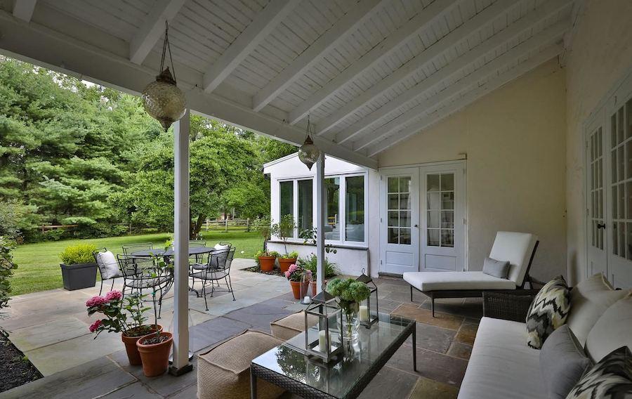 rear porch and patio