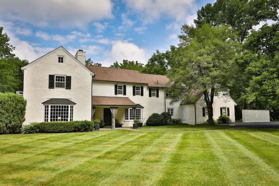lower gwynedd colonial house for sale exterior front