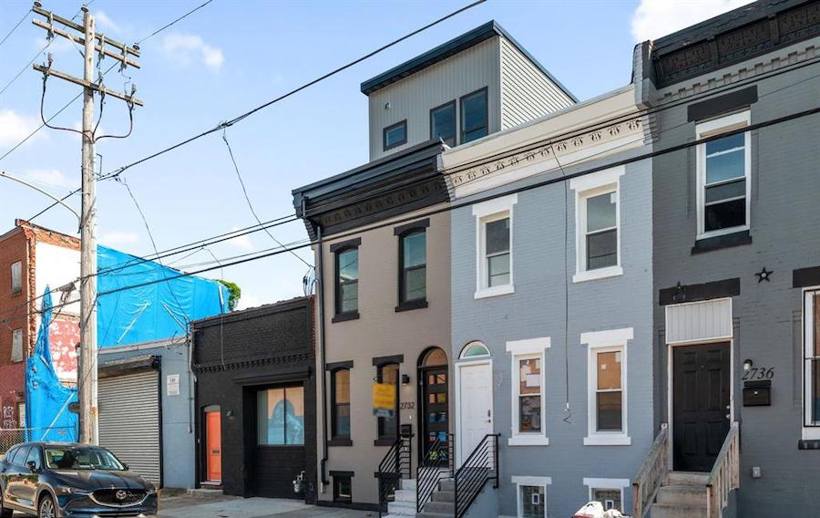 rehabbed brewerytown rowhouse for sale exterior front