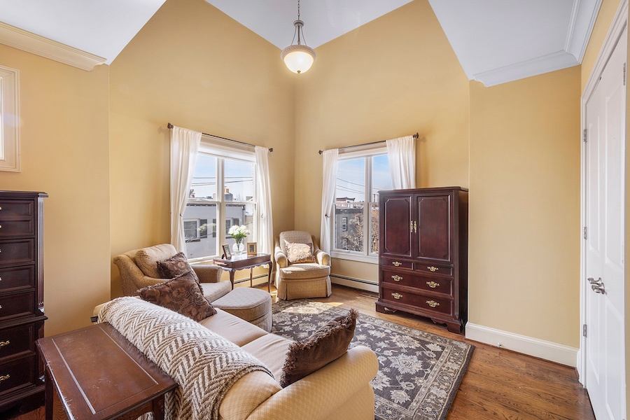 double-wide rittenhouse square townhouse for sale master bedroom sitting area