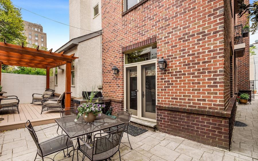 rear patio and arbor