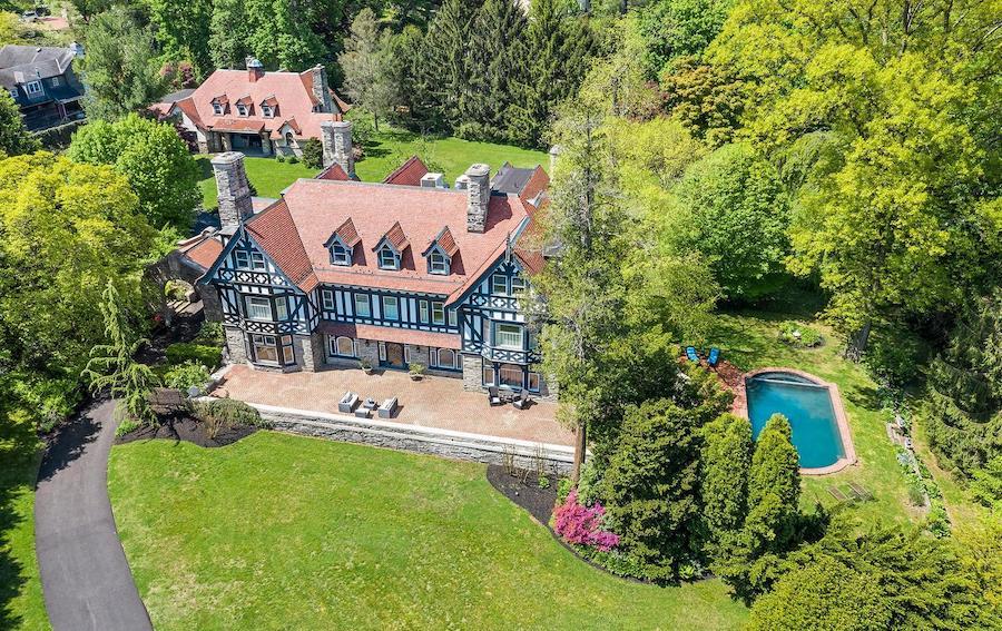 st davids tudor revival house for sale aerial view
