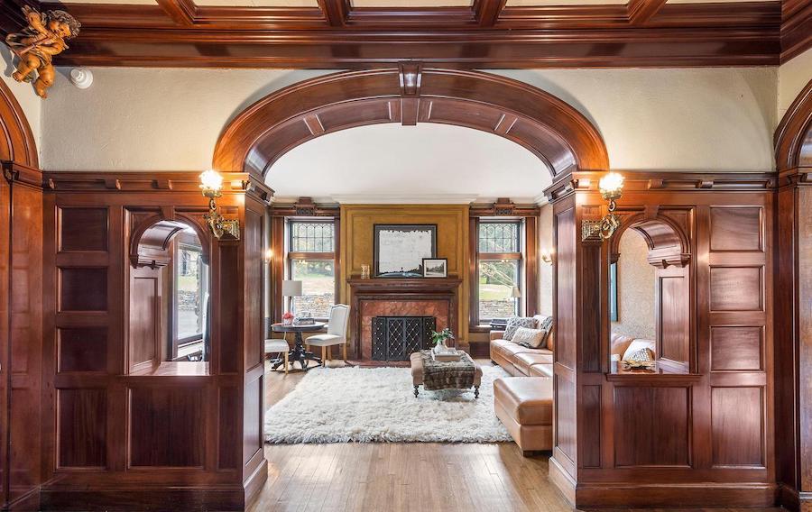 st davids tudor revival house for sale foyer and den