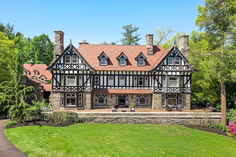 st davids tudor revival house for sale exterior front