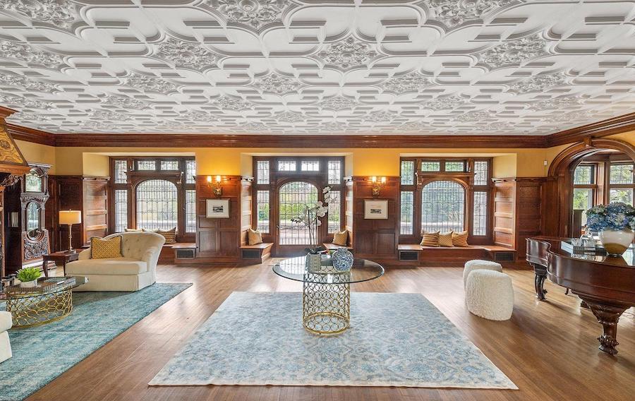 st davids tudor revival house for sale living room