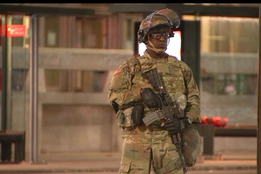 a member of the national guard in philadelphia