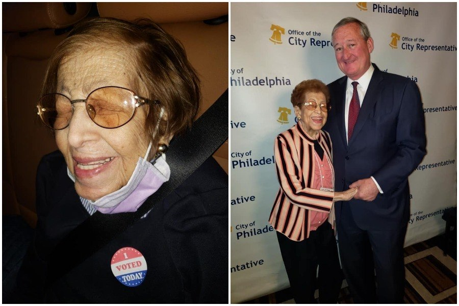 Clarissa Dunston, a 103-year-old south philadelphia woman who insisted on voting in the primary