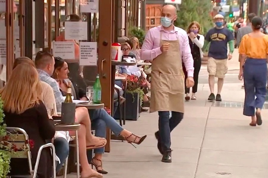 some philly restaurants are not enforcing social distancing after reopening for outdoor dining