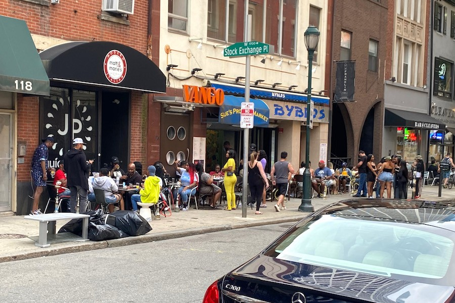 philly restaurants not practicing social distancing after reopening for outdoor dining