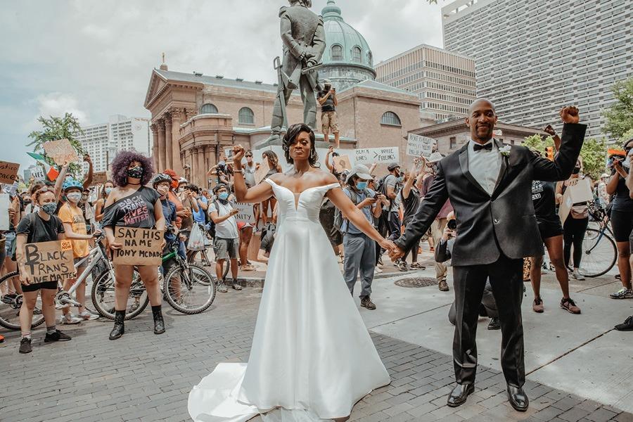 Protest wedding