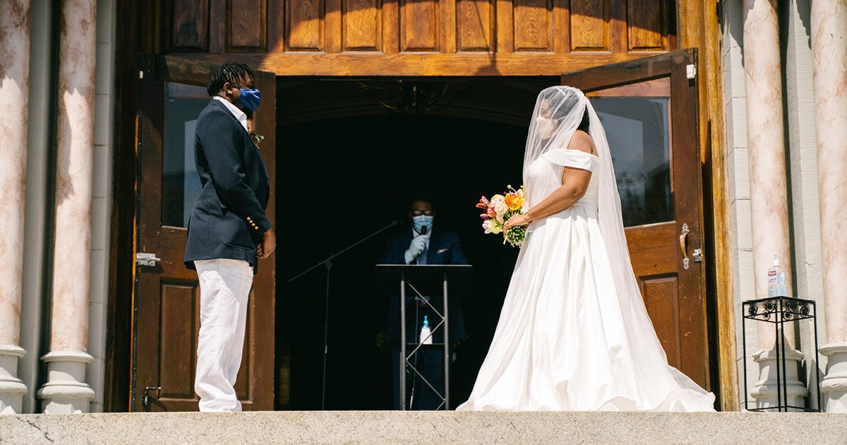 How One Couple Turned Their Coronavirus Wedding Into A Digital Party
