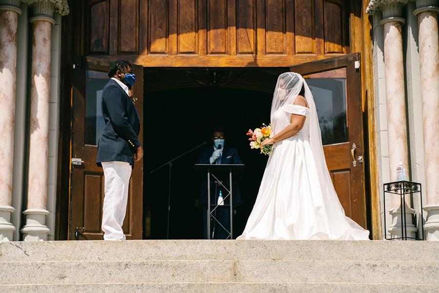 Philadelphia coronavirus wedding