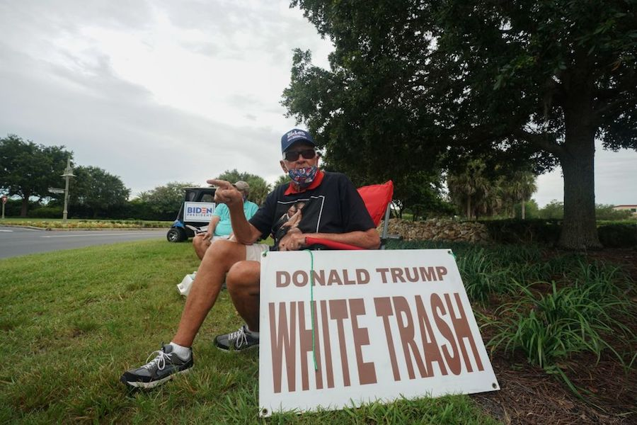 ed mcginty, an anti-donald trump protester in the villages, florida