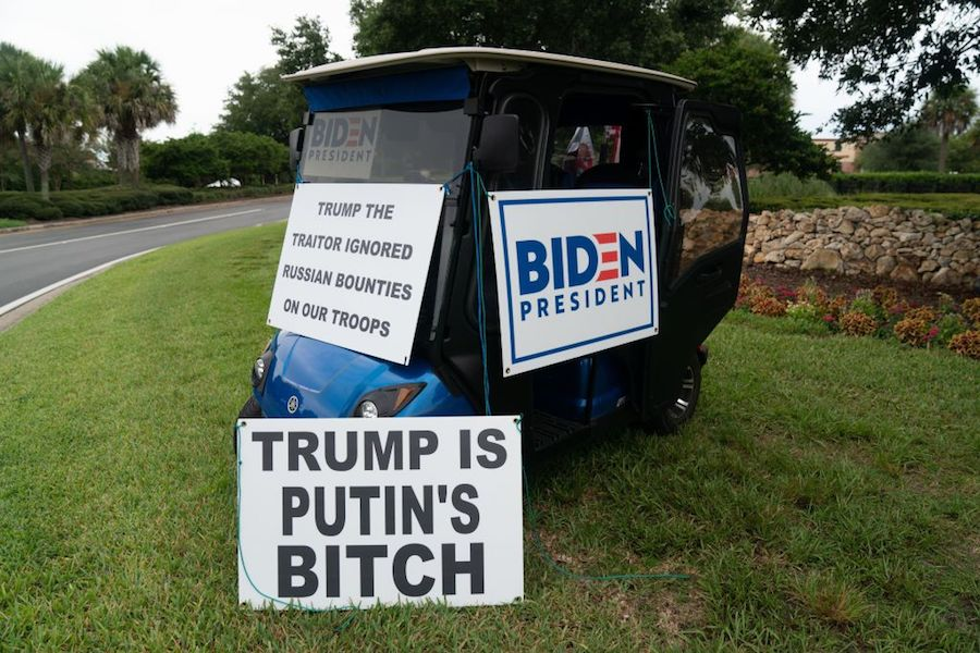 ed mcginty's golf cart in the villages in florida