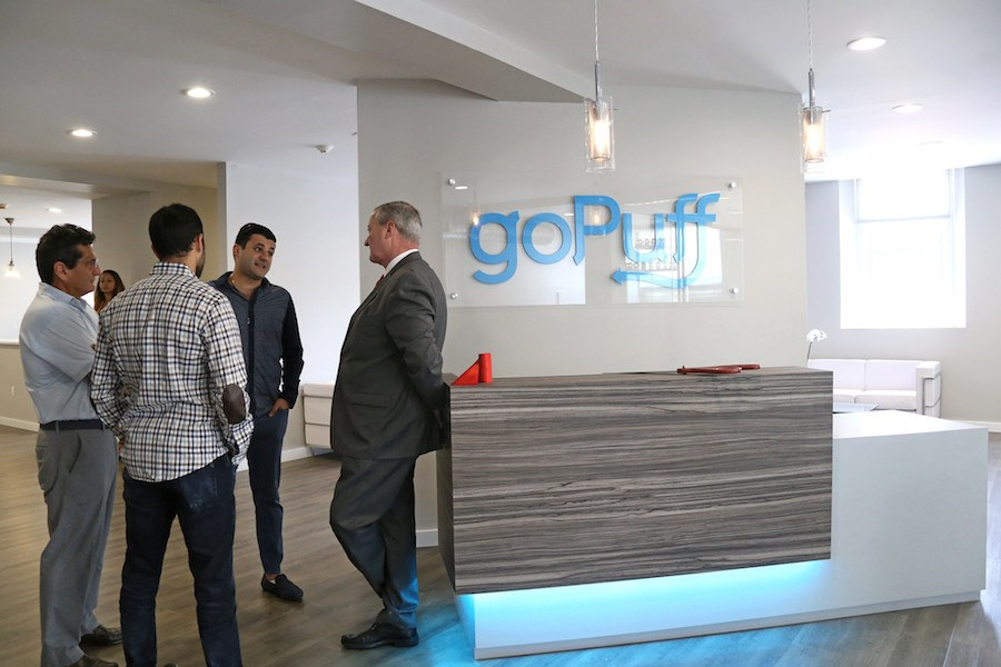 a scene at the headquarters of gopuff, the company that now faces a lawsuit after a worker says she was sexually assaulted and then retaliated against