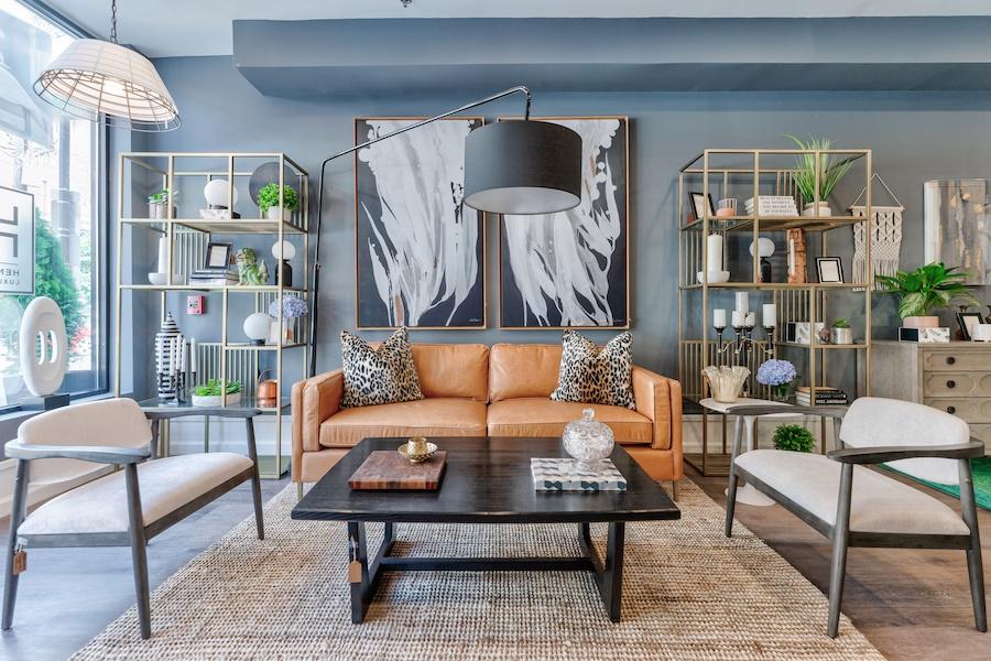 henck design showroom living room ensemble