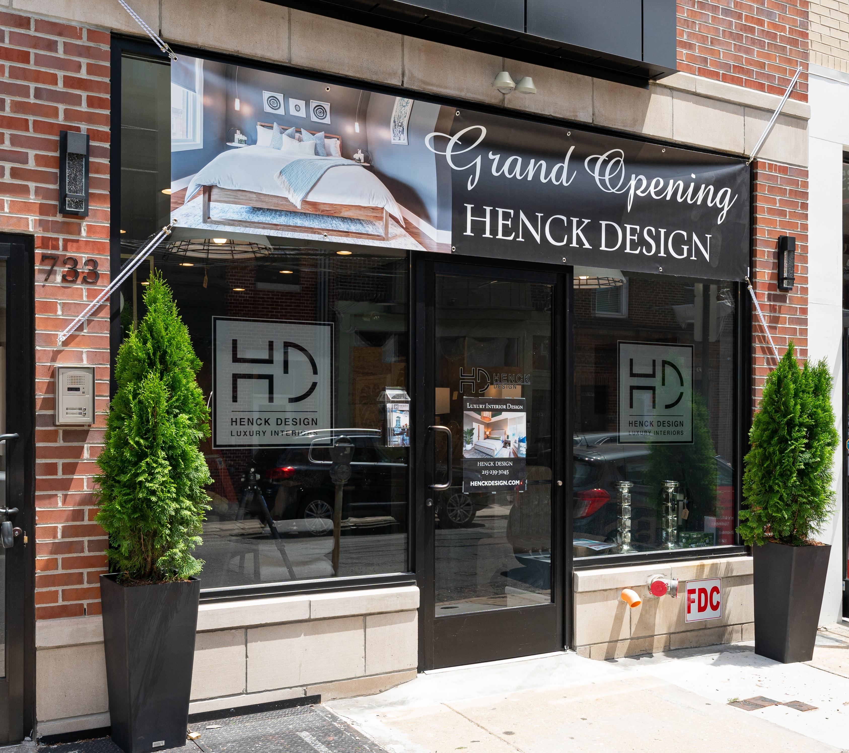 henck design showroom storefront