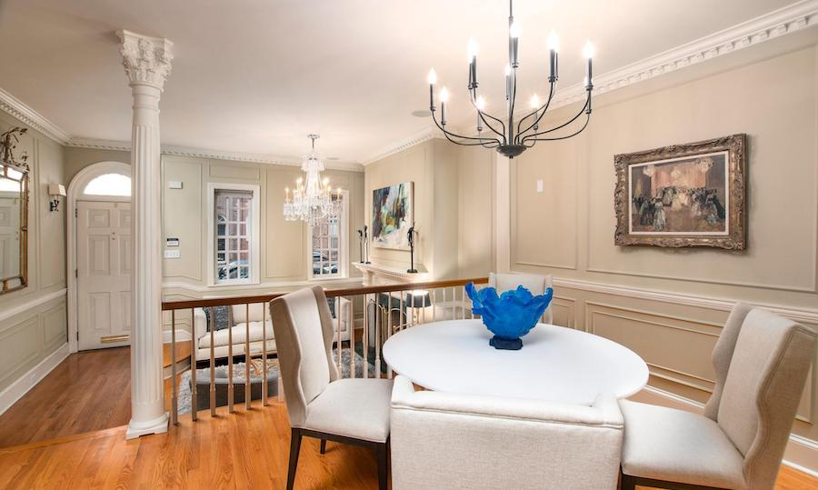 queen village colonial revival house for sale dining room