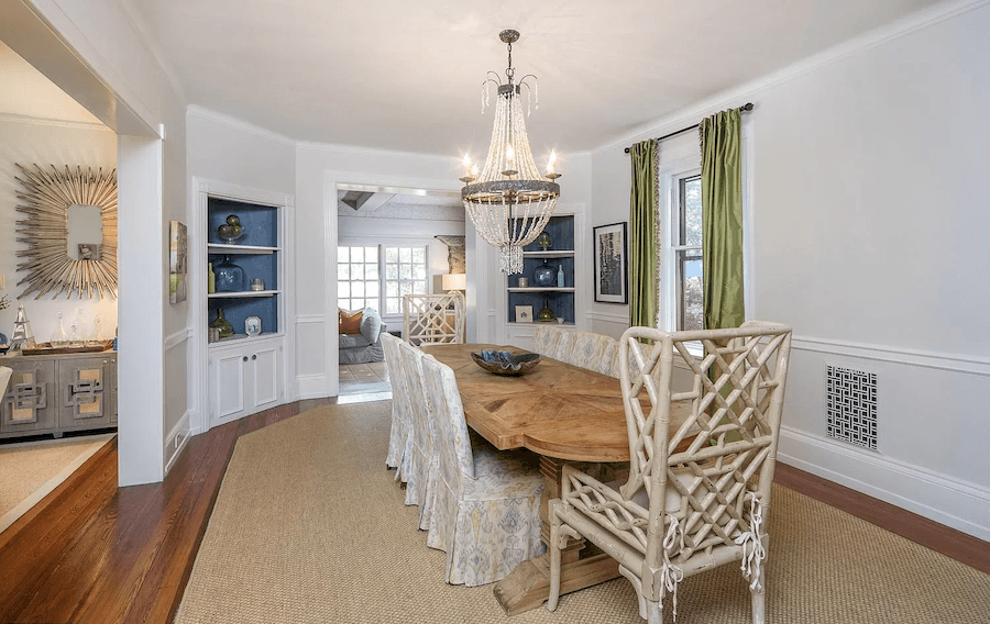 wayne shingle style house for sale dining room