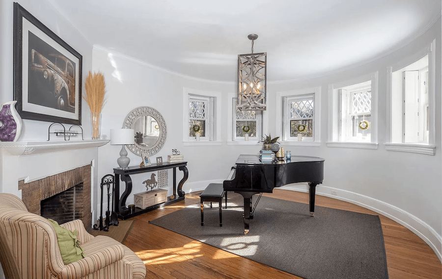 wayne shingle style house for sale music room