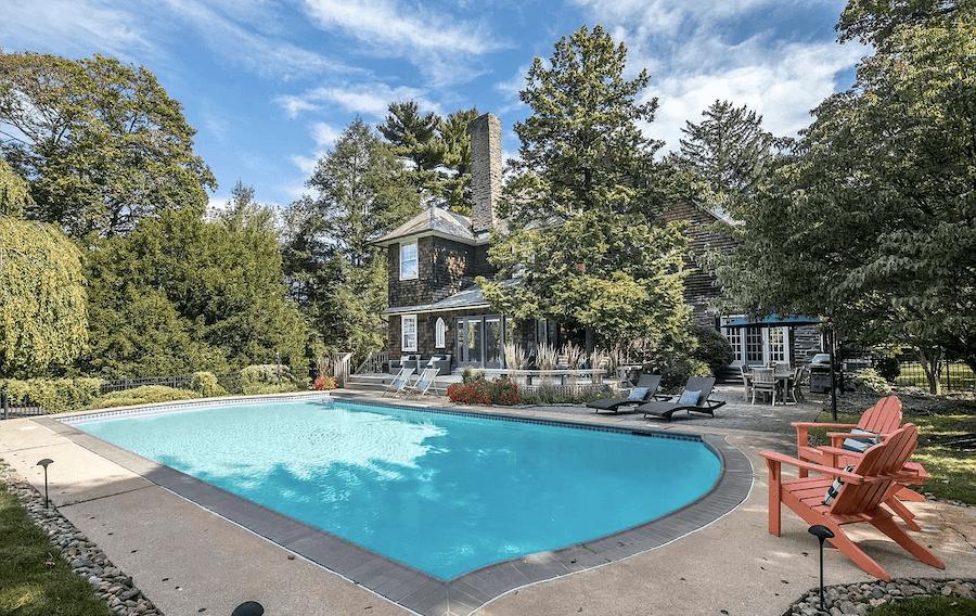 wayne shingle style house for sale pool