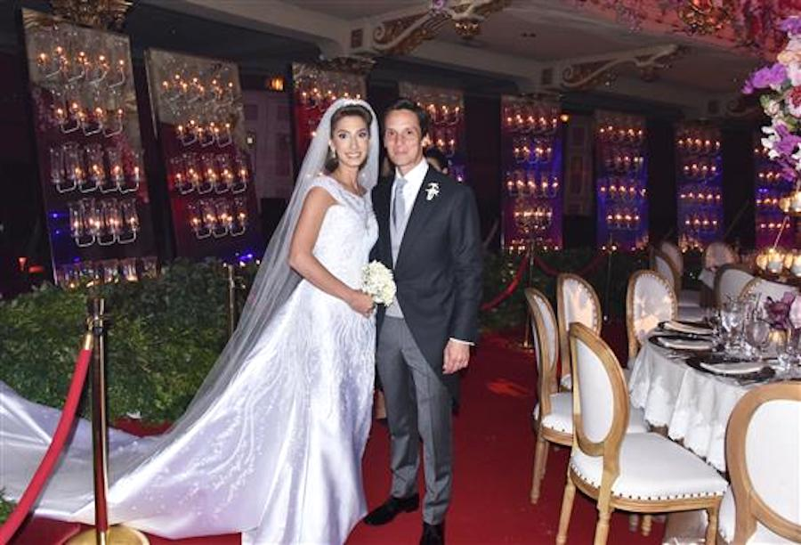 Yasmina Moukarzel and John Giordano, both big Trump donors from Philadelphia, on their wedding day
