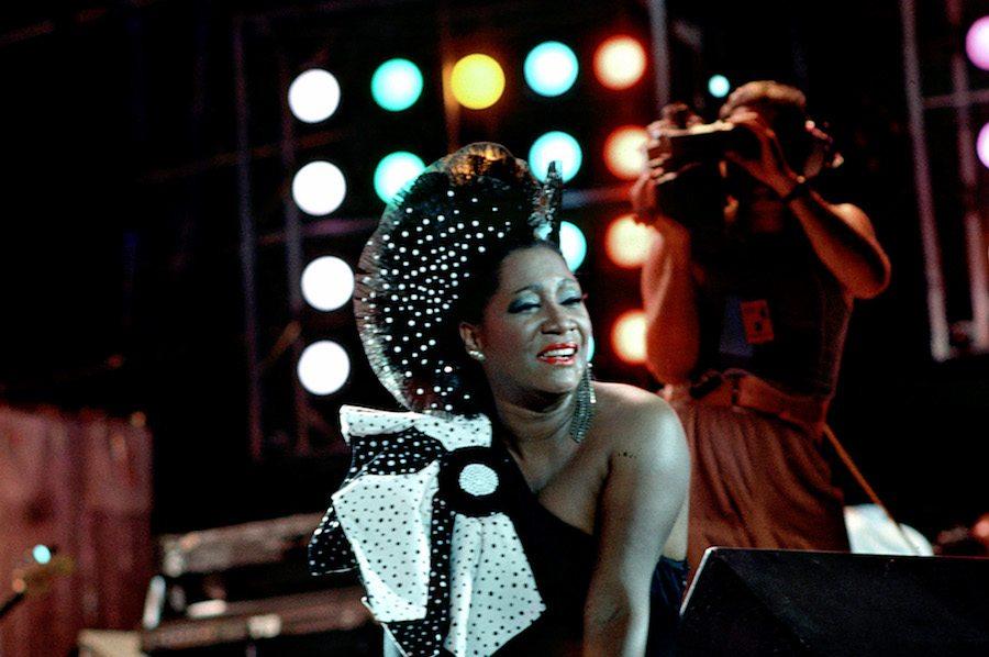 patti labelle performing at JFK stadium for Live Aid in Philadelphia