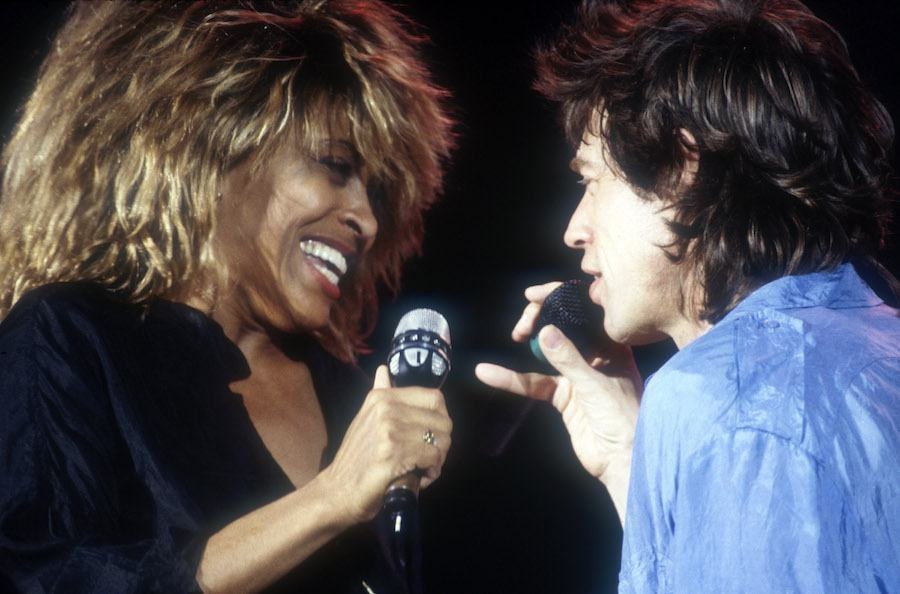 tina turner and mick jagger at live aid in Philadelphia