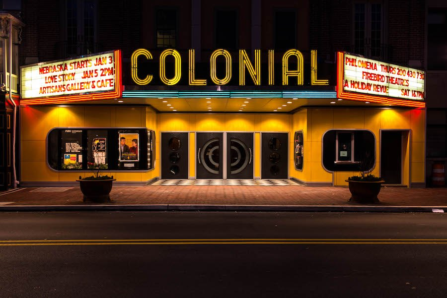 the colonial theatre in phoenixville, one of the pennsylvania movie theaters set to reopen this weekend