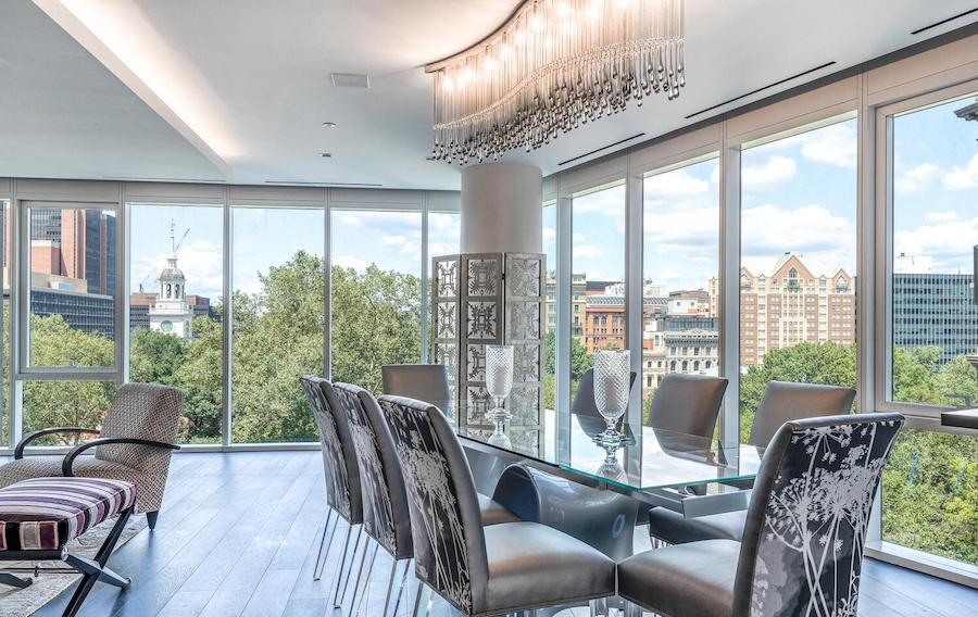 500 walnut condo for sale living and dining rooms