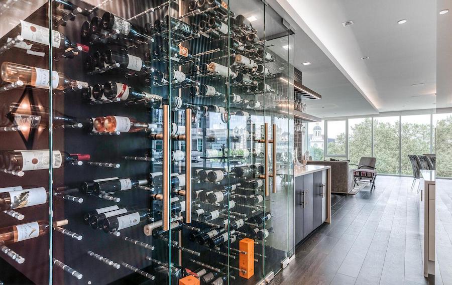 500 walnut condo for sale wine room