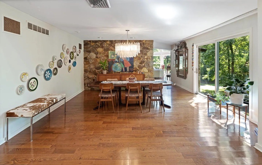 ambler contemporary ranch house for sale dining room