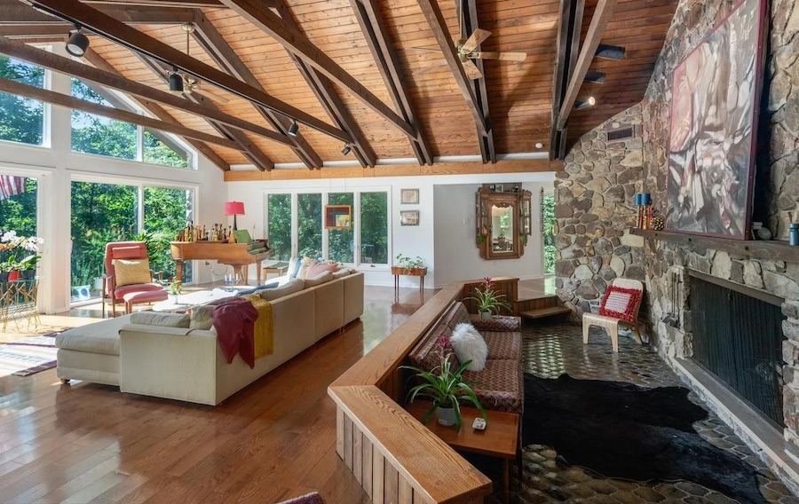 ambler contemporary ranch house for sale great room