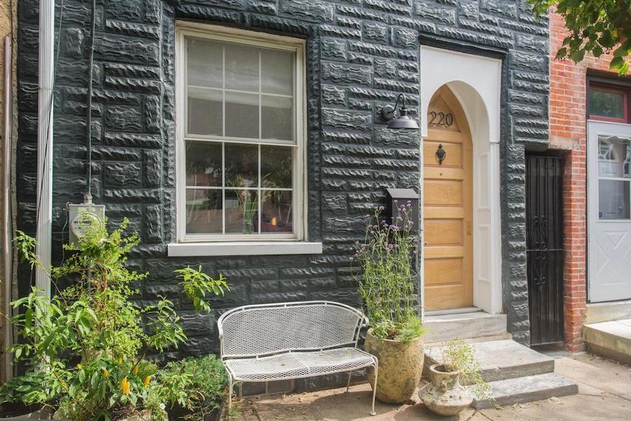 renovated fishtown rowhouse for sale front entrance