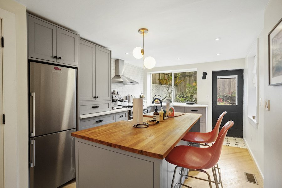 renovated fishtown rowhouse for sale kitchen