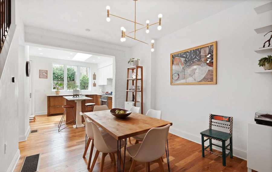 modern logan square victorian house for sale dining room