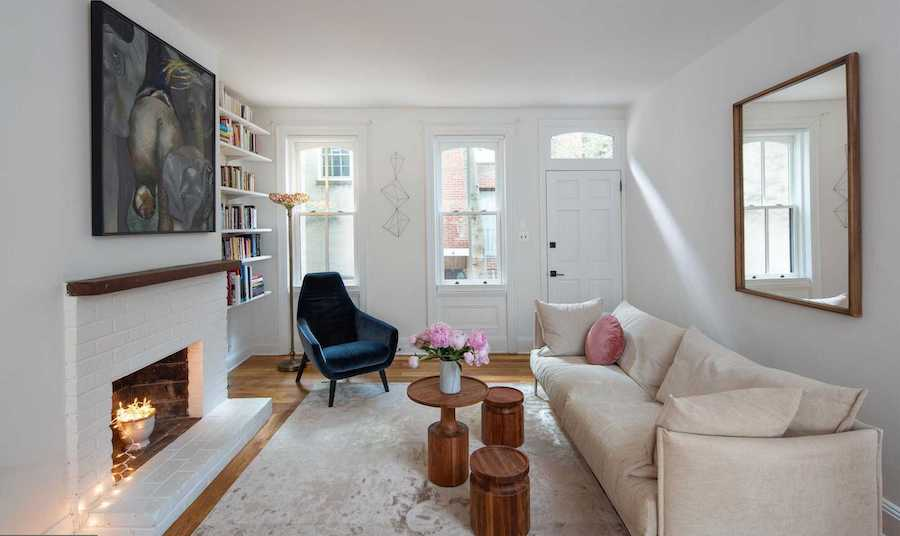 modern logan square victorian house for sale living room