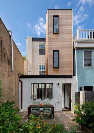 modern logan square victorian house for sale rear elevation