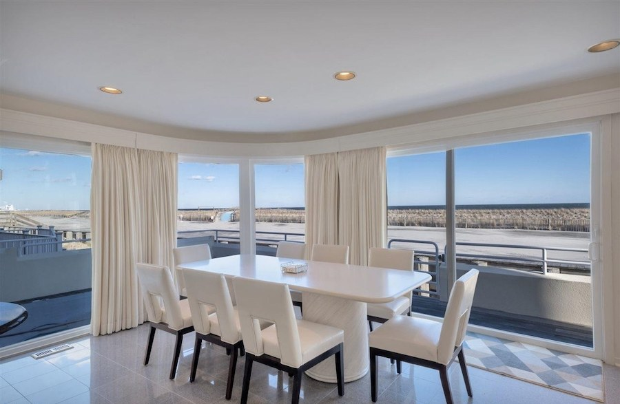 longport contemporary house for sale dining room