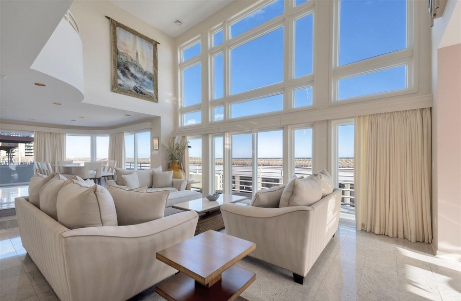 longport contemporary house for sale living room