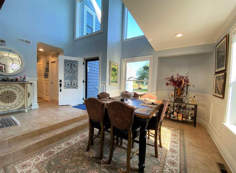 margate contemporary bayfront house for sale dining room