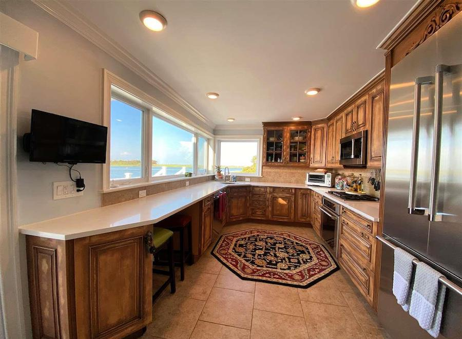 margate contemporary bayfront house for sale kitchen