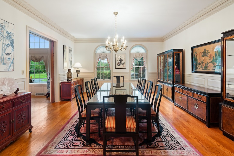newtown georgian revival house for sale dining room