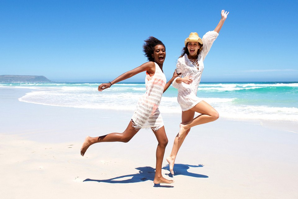two women at beach