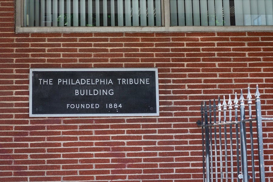 the headquarters of the philadelphia tribune, whose employees are not allowed to work remotely during the COVID-19 pandemic