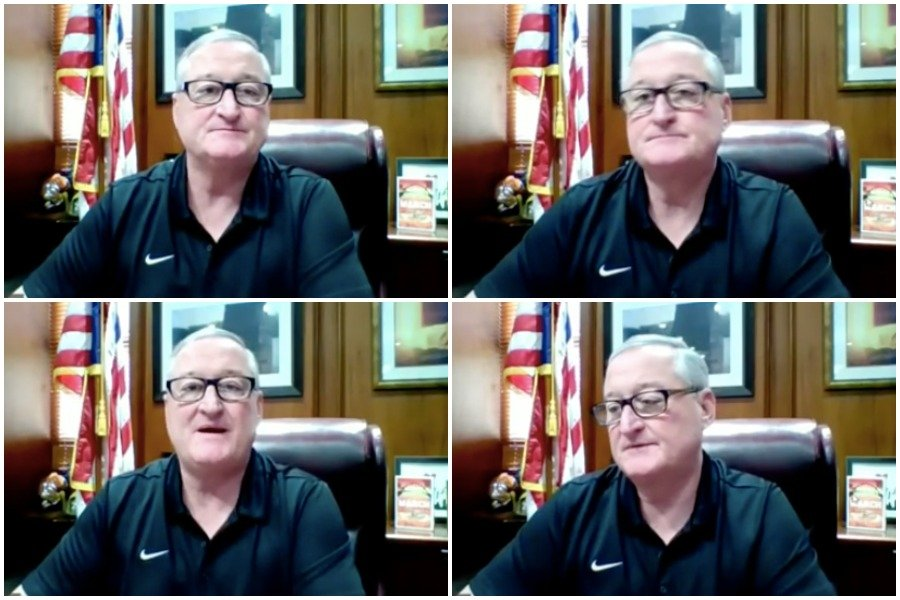 mayor kenney grew increasingly frustrated as reporters asked him about philly trash pickup, gun violence and other issues