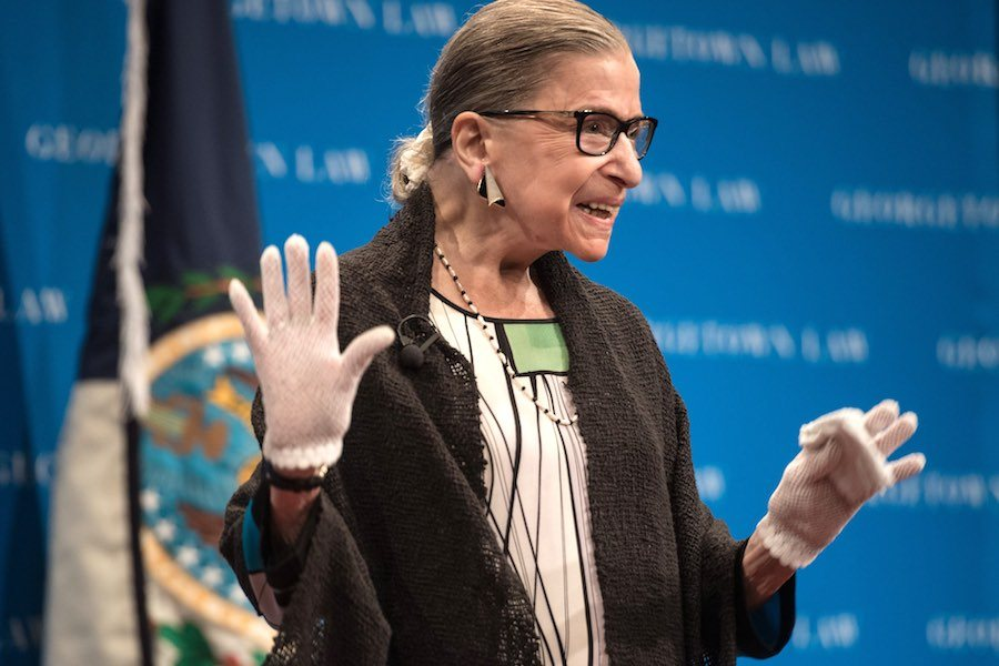 ruth bader ginsburg, who will receive Philadelphia's 2020 Liberty Medal