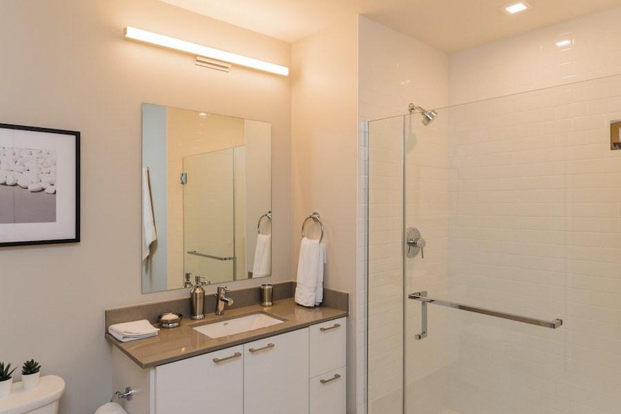 one-bedroom apartment bathroom