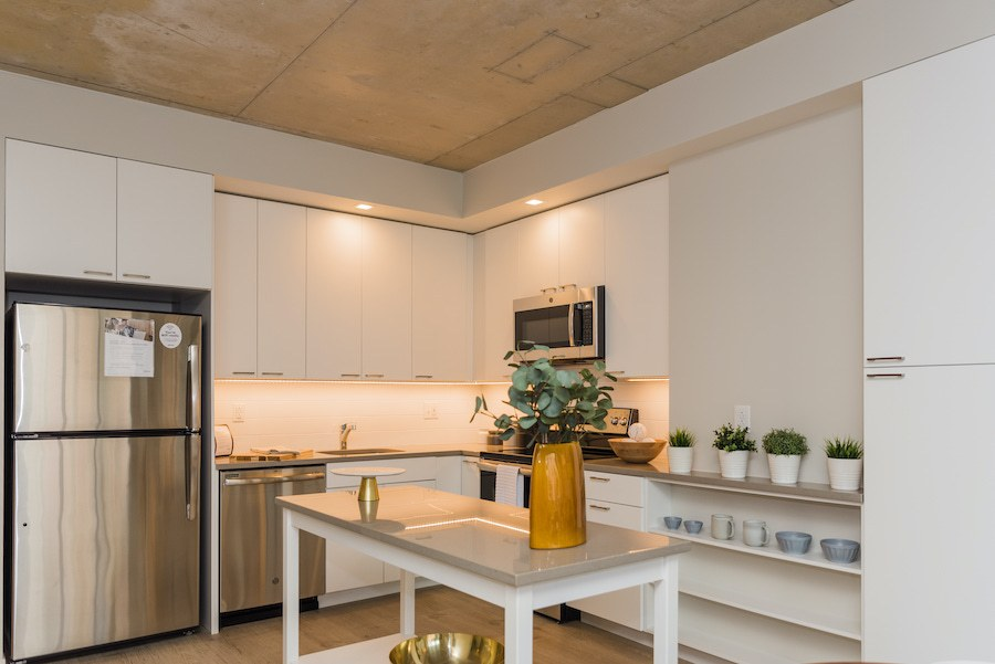 one-bedroom apartment kitchen