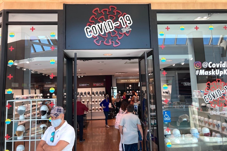 the front of the new covid store at the King of Prussia Mall